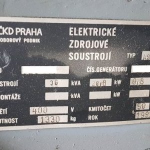 foto agregat 36 kVa/30kW diesel AS NEW